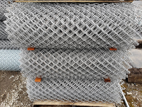 "Rolls of 11 gauge x 2"" Mesh Galvanized Before Weave Chain Link Fabric"