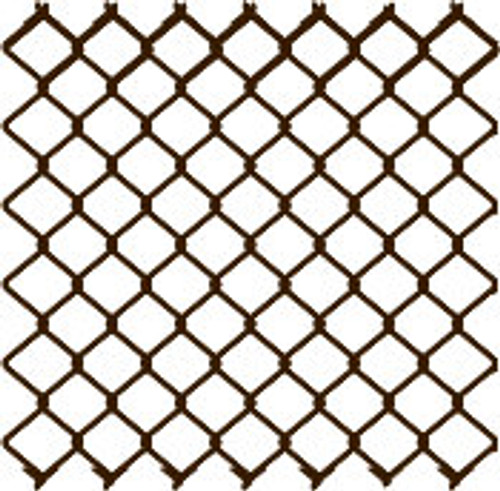 "8 ga. x 2"" Vinyl Coated Chain Link Fabric, Extruded & Bonded - Multiple Sizes & Colors"