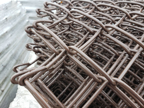 Closeup of Extruded Chain Link Fabric