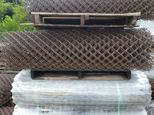 Rolls of Brown Vinyl Coated Chain Link Fabric