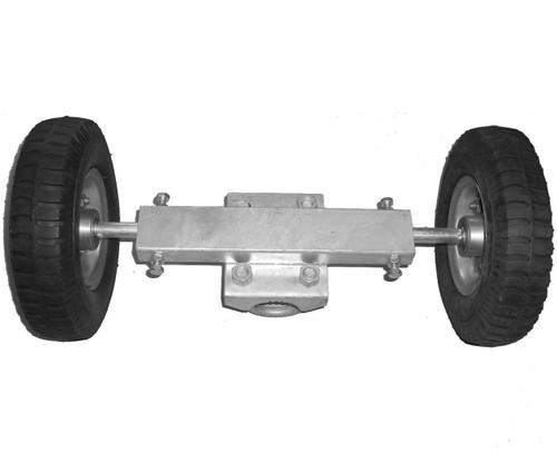 Rut Runner Chain Link Pneumatic Double Wheel Carrier