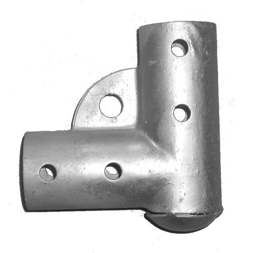Residential Pressed Steel Chain Link Gate Corner - Bottom