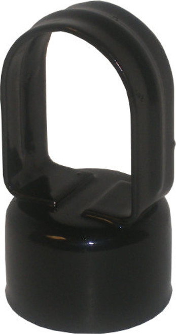 Black Pressed Steel Chain Link Loop Cap