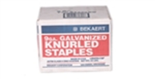 50' Box of Bekaert Knurled Fence Staples