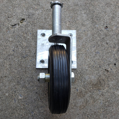 Swivel Swing Gate Wheel for Wood with Welded Plate