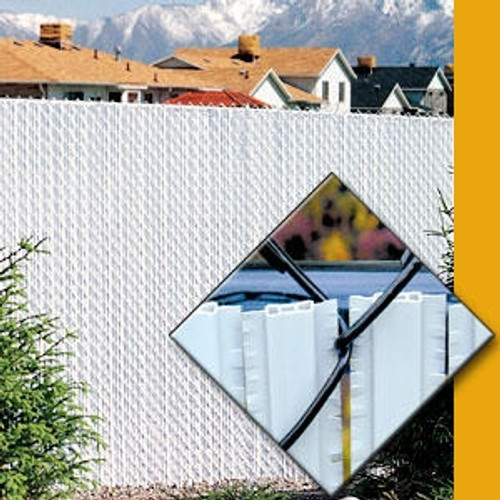 Pexco Winged PVC Fence Privacy Slats in White