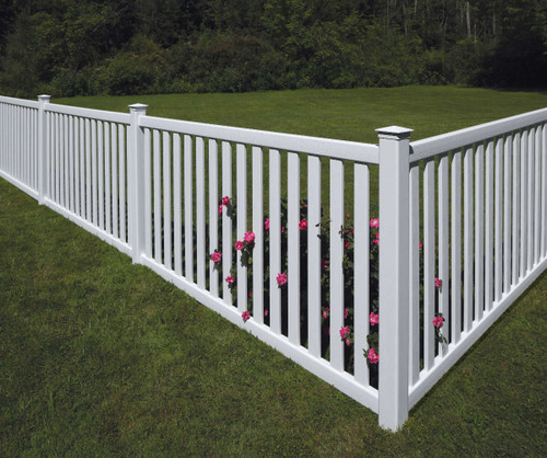 White Bufftech Baron Fence