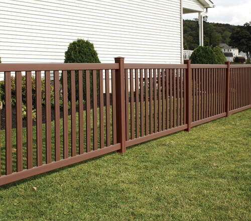 Bufftech Baron Fence with Brazilian Blend Select Cedar Finish