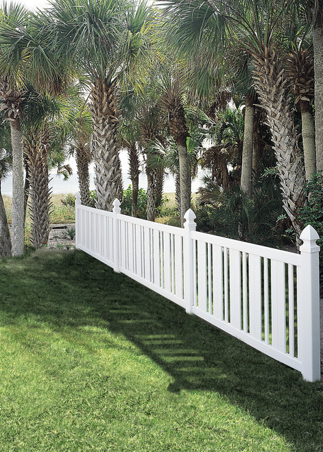 Bufftech Countess 4' Tall Vinyl Fence with Contemporary Style