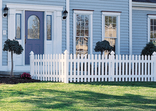 Bufftech Cape Cod White Picket Fence