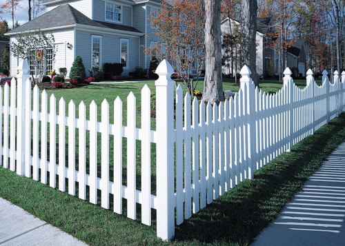 Bufftech White Cape Cod Vinyl Fence
