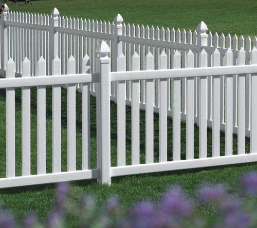 White Bufftech Danbury Vinyl Fence