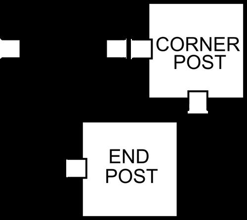 Bufftech T15 Vinyl Posts - End Post, Line Post, & Corner Post Graphic