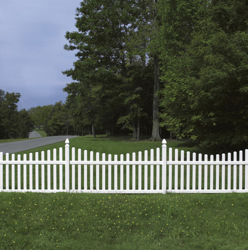 Bufftech Rothbury Concave Vinyl Fence Sections - Posts & Caps Sold Separately
