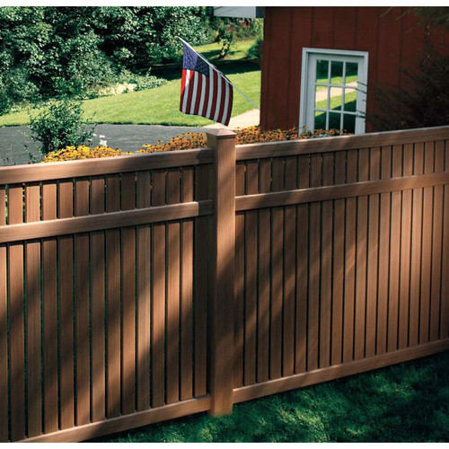 Bufftech Imperial Vinyl Fence w/ Select Cedar Textures