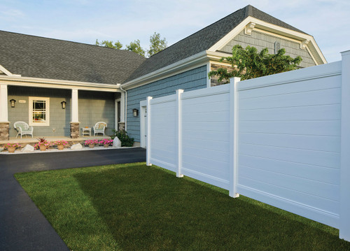 Bufftech Brookline White Vinyl Fence