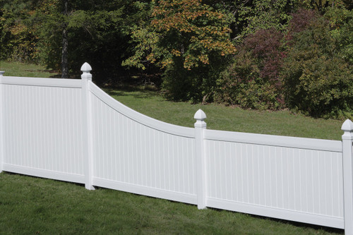 Bufftech Chesterfield Swoop Vinyl Fence Section.