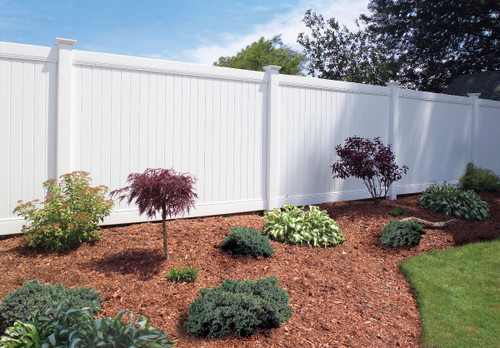 White Bufftech New Lexington Vinyl Fence