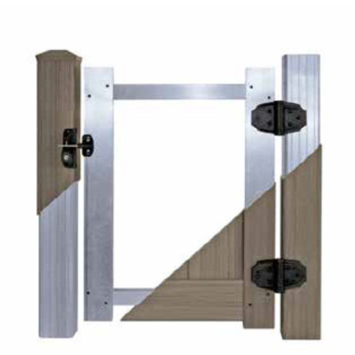Example Photo of Pre-Assembled Gate Aluminum Frame - Posts & Hardware Sold Separately. Photo is Representative Only, Gate Style Will Vary.