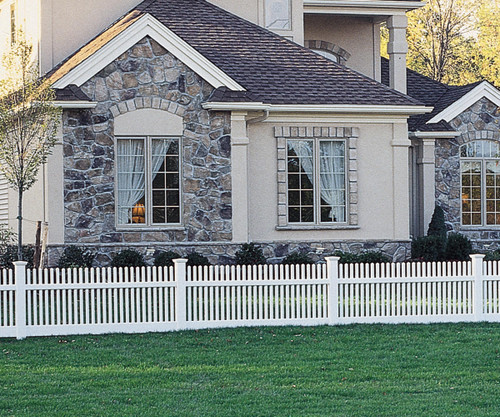 Bufftech Manchester Classic White Vinyl Fence Sections