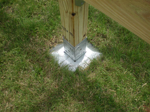 "Oz-Deck Deck Plate Installation with 4"" x 4"" Post & T4-850 OZ-Post"