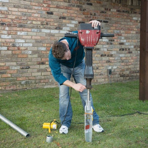 Installing an OZ-Post Anchor with a Jackhammer and JDK-10 Jackhammer Driving Kit