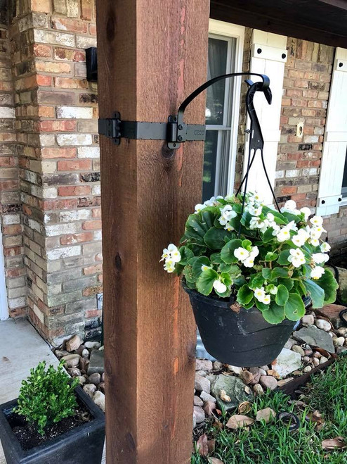 Plant Hung from Wood Post w/ OZCO OWT Plant Hanger Hook