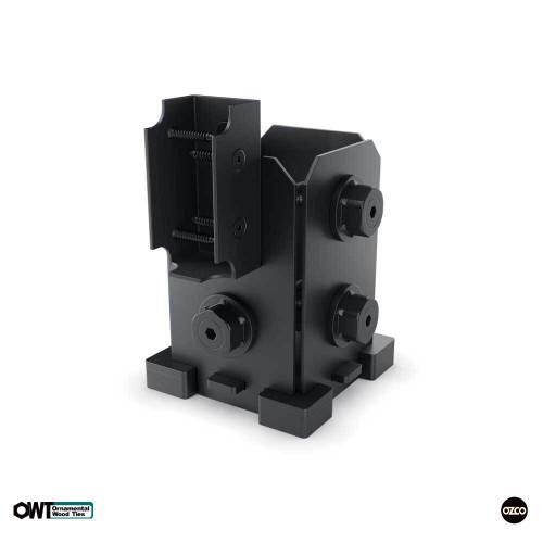 OZCO OWT 4X4-SRS-IW 4x4 Post Base Single Rail Saddle