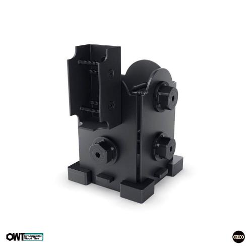 OZCO OWT Hardware 4 x 4 Post Base with Single Rail Saddle with Laredo Sunset Style