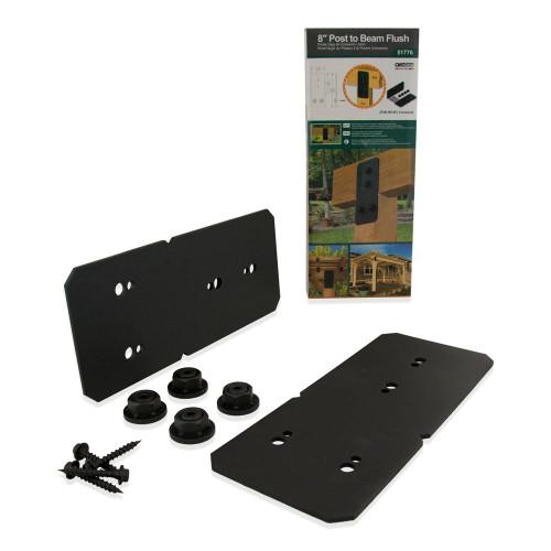 """OZCO OWT Hardware 8"""" Ironwood Post to Beam Flush Connector Kit - 2 Pack"""