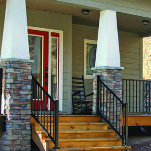 Westbury Tuscany Stair Railing Kits on Porch