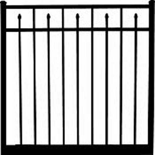 Regis 3233 Standard Aluminum Gate, Fully Welded - Choose Your Height,  Width, & Color