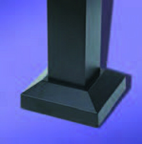 "Regis 2"" Aluminum Fence Post Flair for Welded Plate Option"