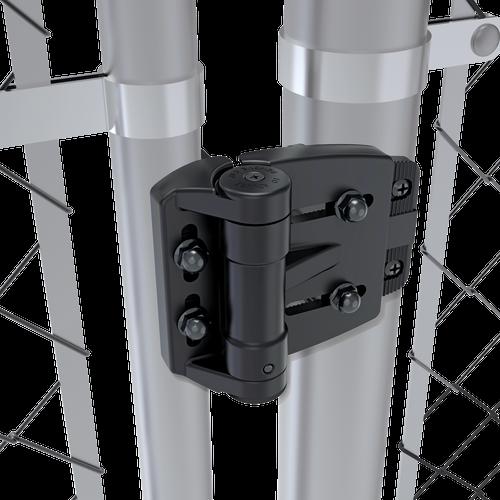 TCAMA2RND TruClose Mini Multi-Adjust Round Gate Hinge on Steel Posts