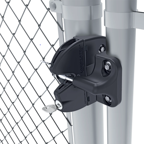 LokkLatch Round Latch on Chain Link Gate