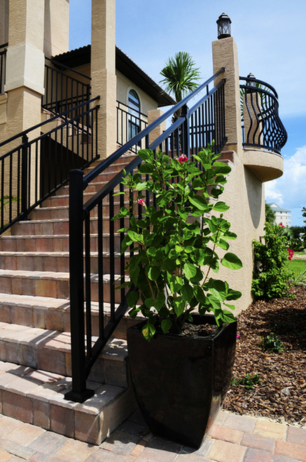 Westbury Riviera C30 Stair Railing on Residential Stairs