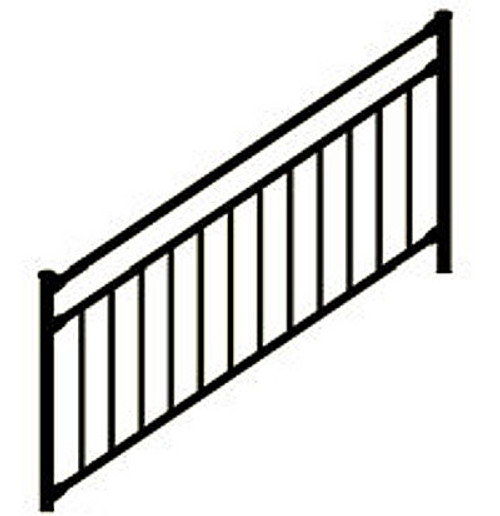 Westbury Riviera C30 Stair Railing Section - Posts Sold Separately