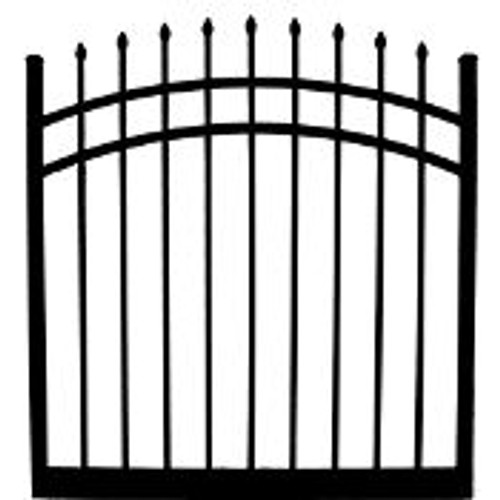 Regis 3131 Arched Aluminum Gate w/ Fully Welded Frame