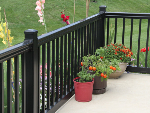 Lancaster Aluminum Railing with Flat Post Caps
