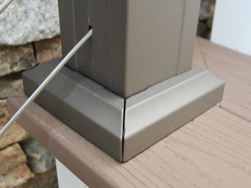 Key-Link Aluminum Railing 2-Piece Post Trim