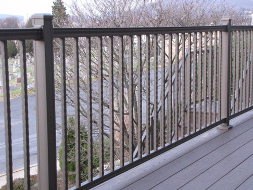 Key-Link American Series Level Railing Sections with Hammered Balusters