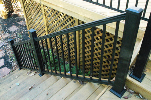 Key-Link Aluminum Black Stair Railing Sections - American Series