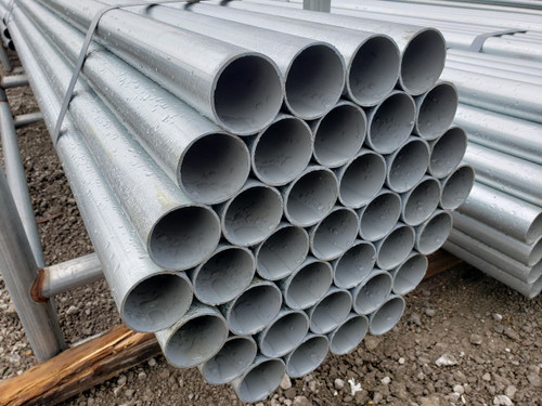 Closeup of SF20 Chain Link Fence Pipe for Framework & Posts