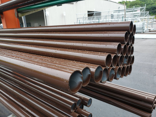Brown SF20 Poly Powder Coated Chain Link Fence Pipe