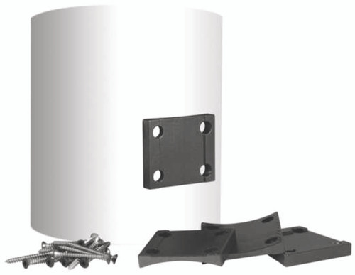 Key-Link Arabian Series Aluminum Railing Round Column Adapter - Black