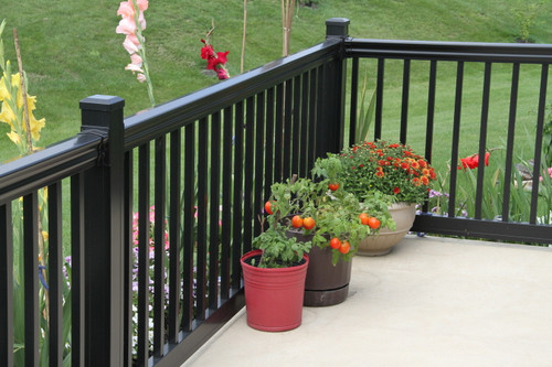 Key-Link Lancaster Series Aluminum Railing with Black Square Balusters
