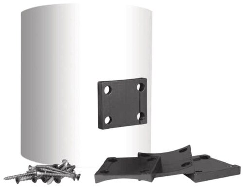 "Key-Link Lancaster Aluminum Railing Round Column Adapter - Fits 6"" or 8"" Round Columns"