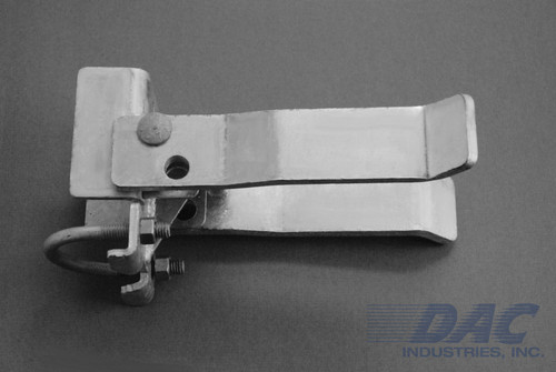 DAC Industries Round Post Walk Gate Strong Arm Latch - Galvanized
