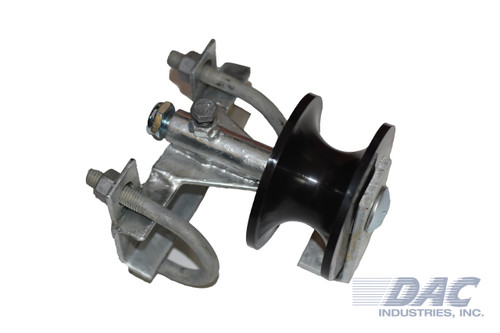 DAC Industries Stealth Rolling Gate Wheel w/ Nylon Roller and Steel Chassis