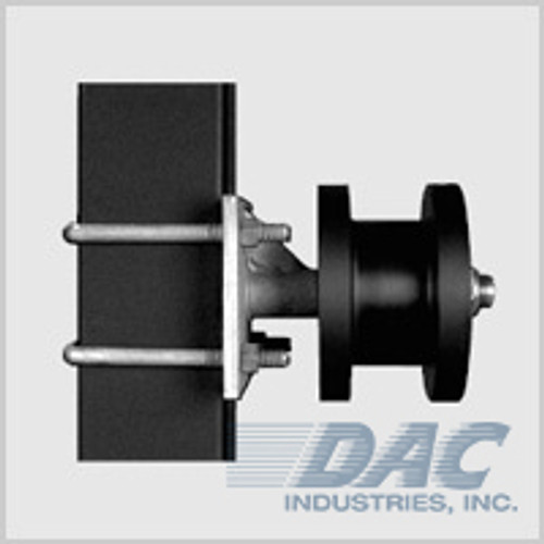 Stealth Square Cantilever Gate Roller w/ Graphite Infused Nylon Roller & Galvanized Steel Chassis
